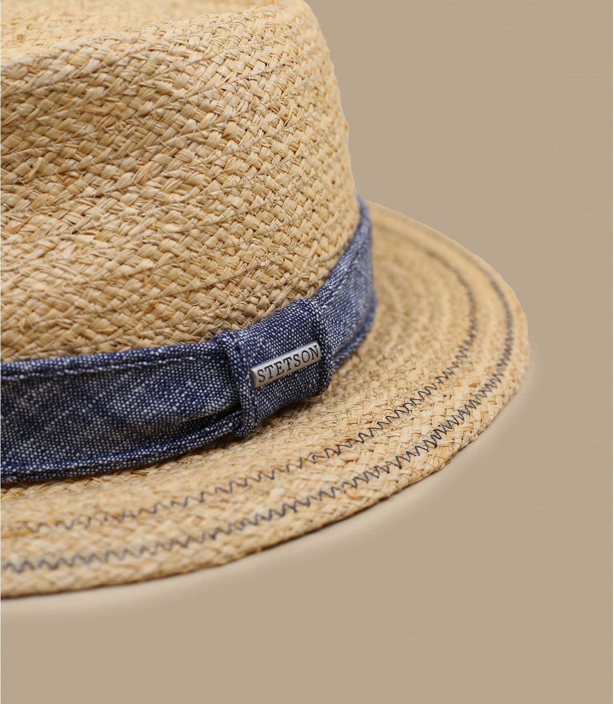 sombrero paja cinta denim