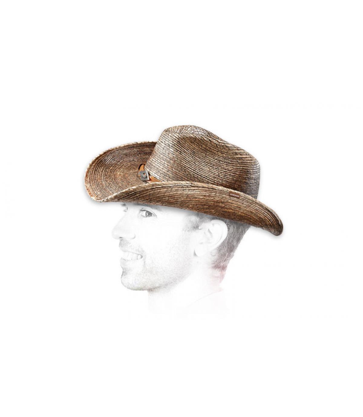 Sombrero paja cow boy hombre
