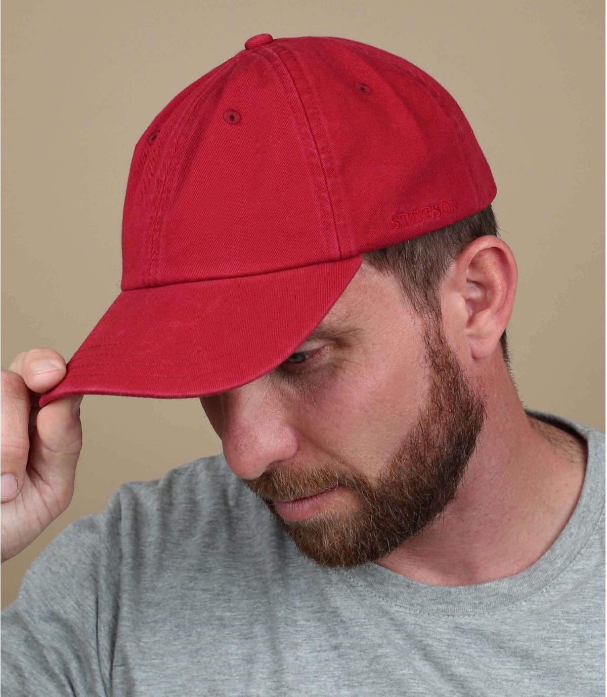 Gorra trucker Stetson rojo