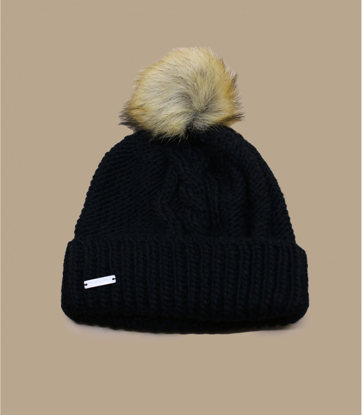 sombrero de la solapa de la borla de negro