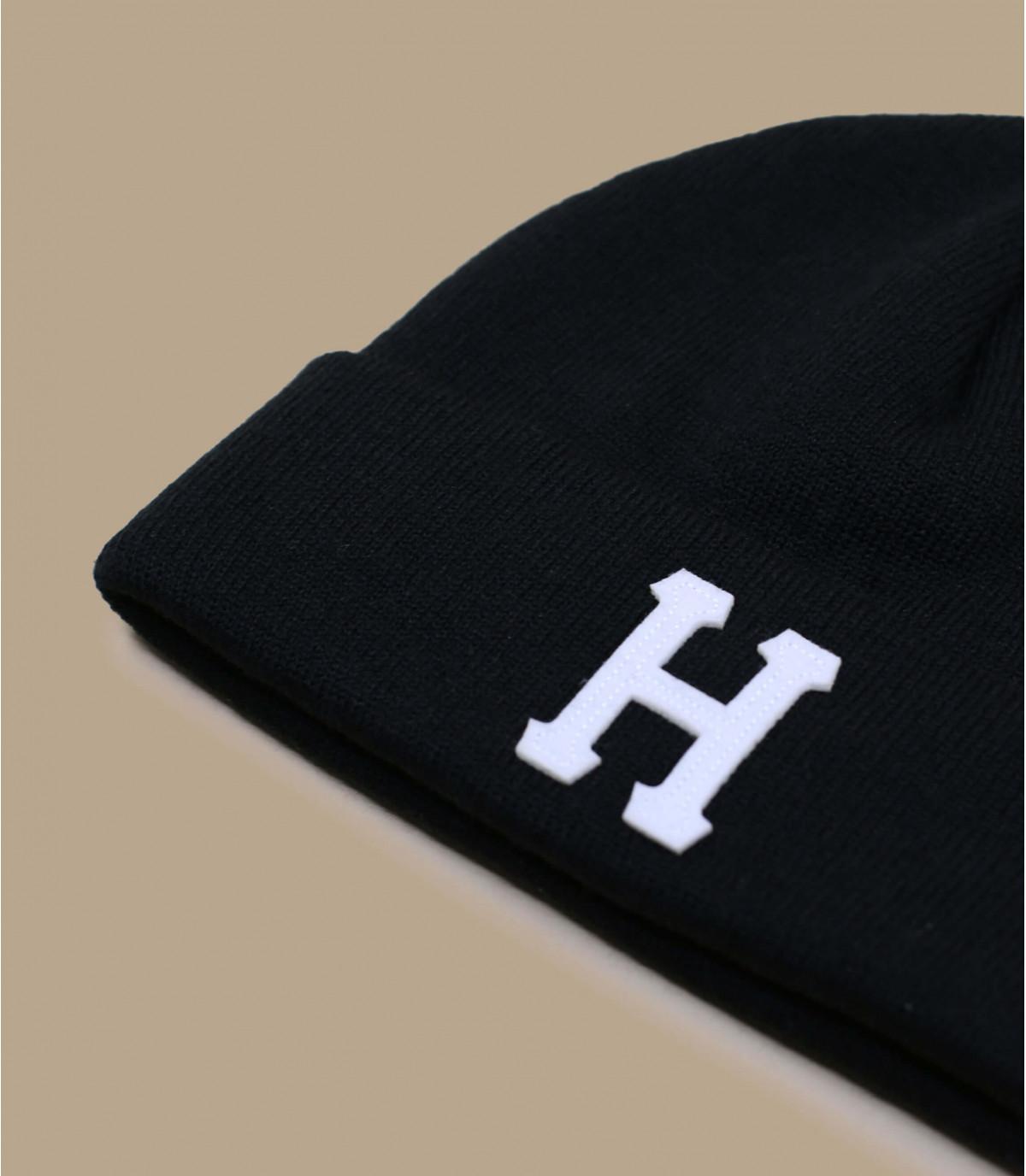 solapa gorro negro H - Classic H Beanie black de Huf. Headict ba6899f2fd0