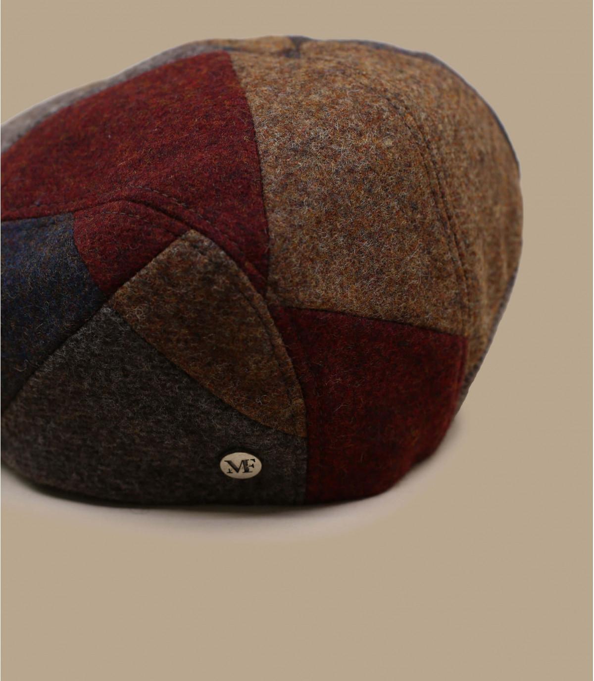 gorra patchwork rojo marrón