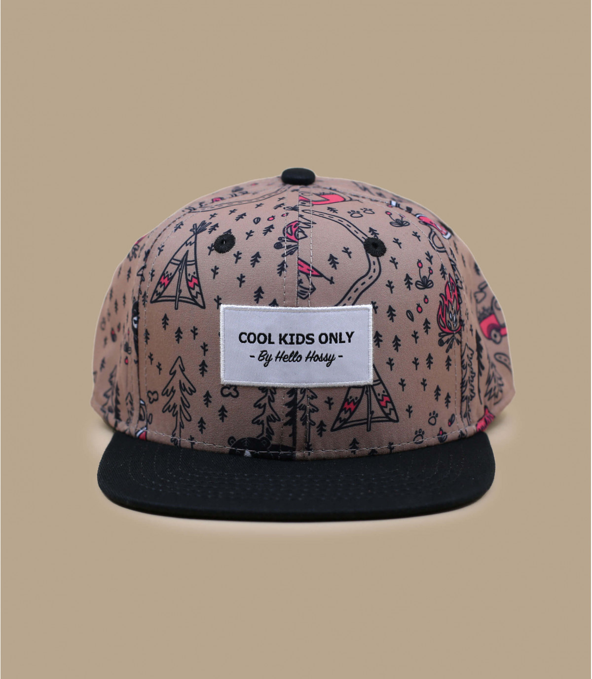 gorra infantil estampado bosque