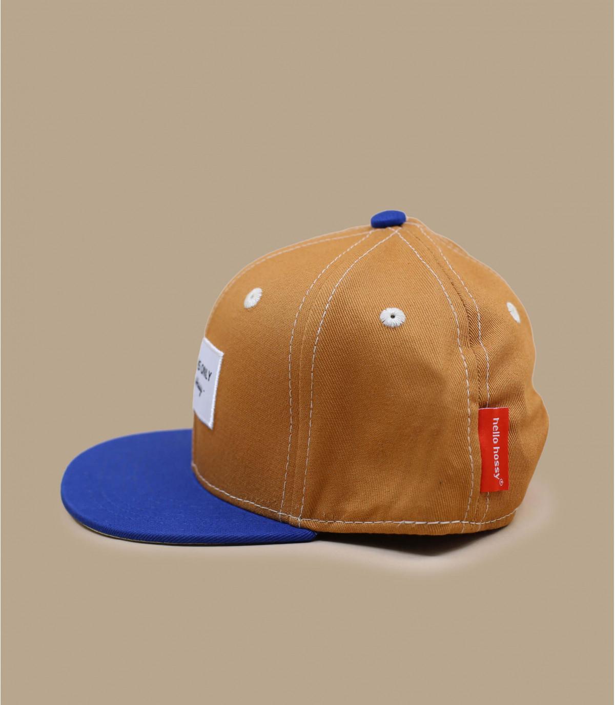 gorra infantil beis azul