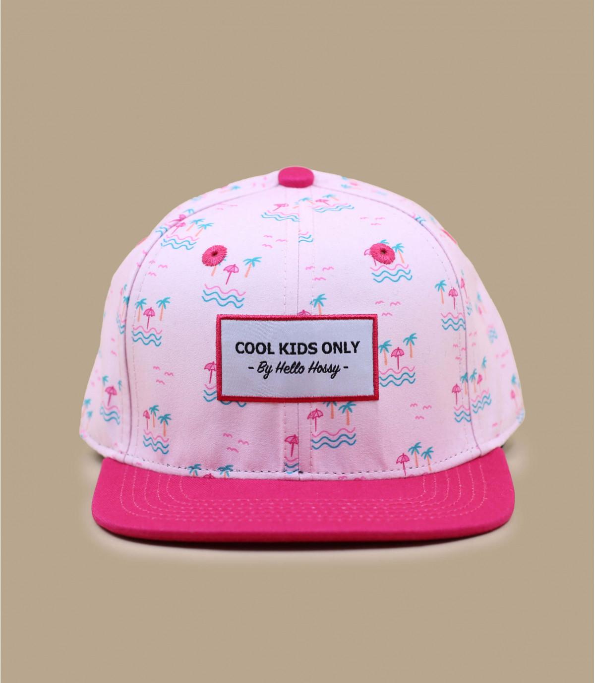 gorra niñas palmera rosa