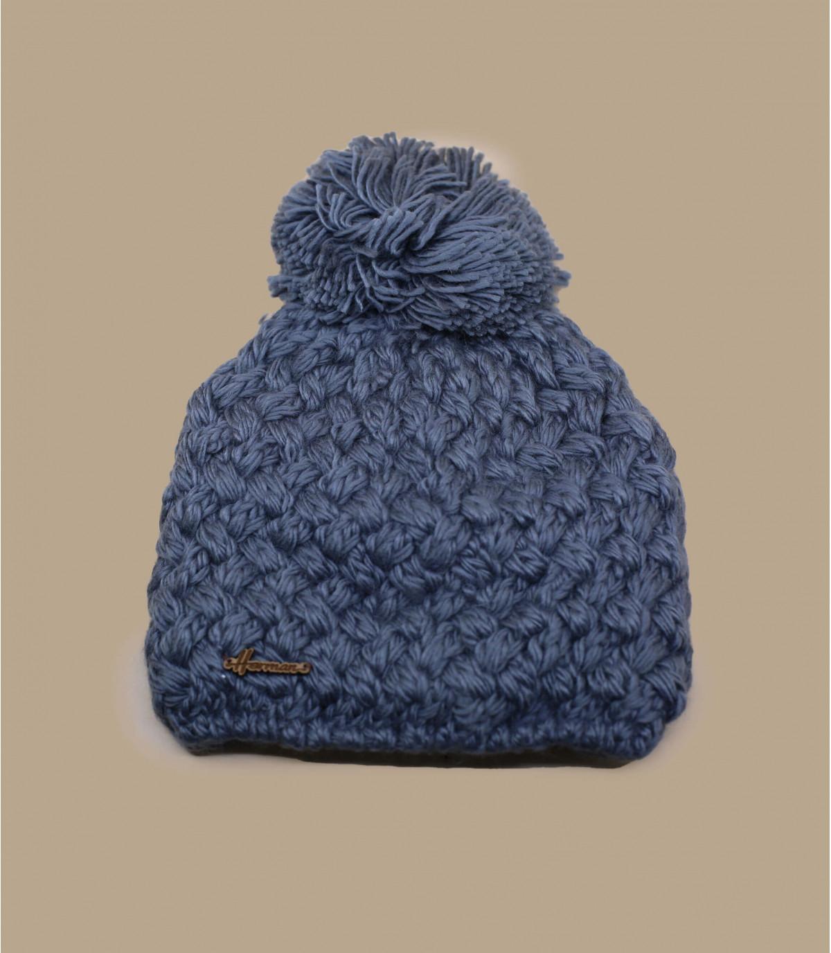 bobble el sombrero de lana gris