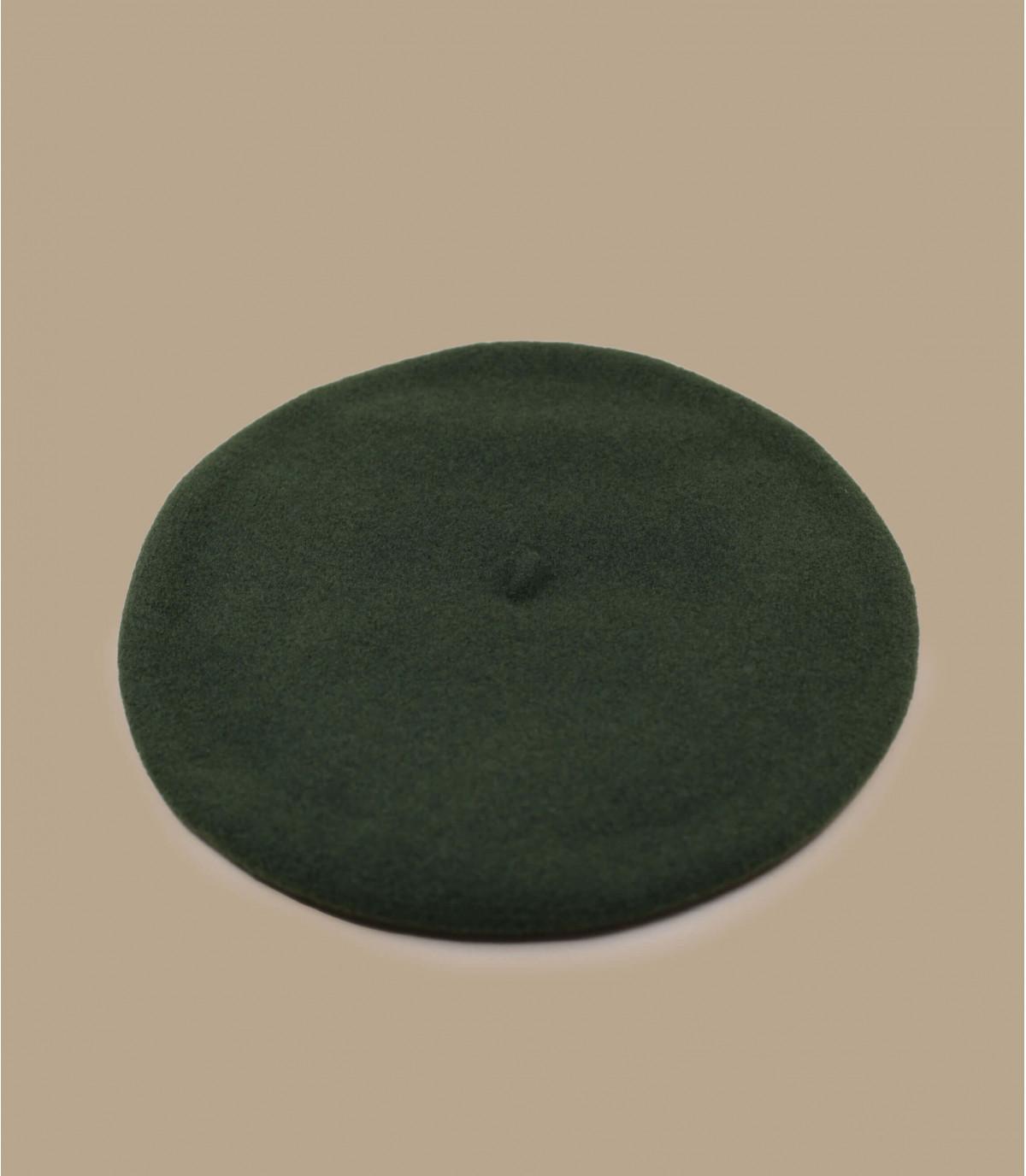 boina de lana verde forrada
