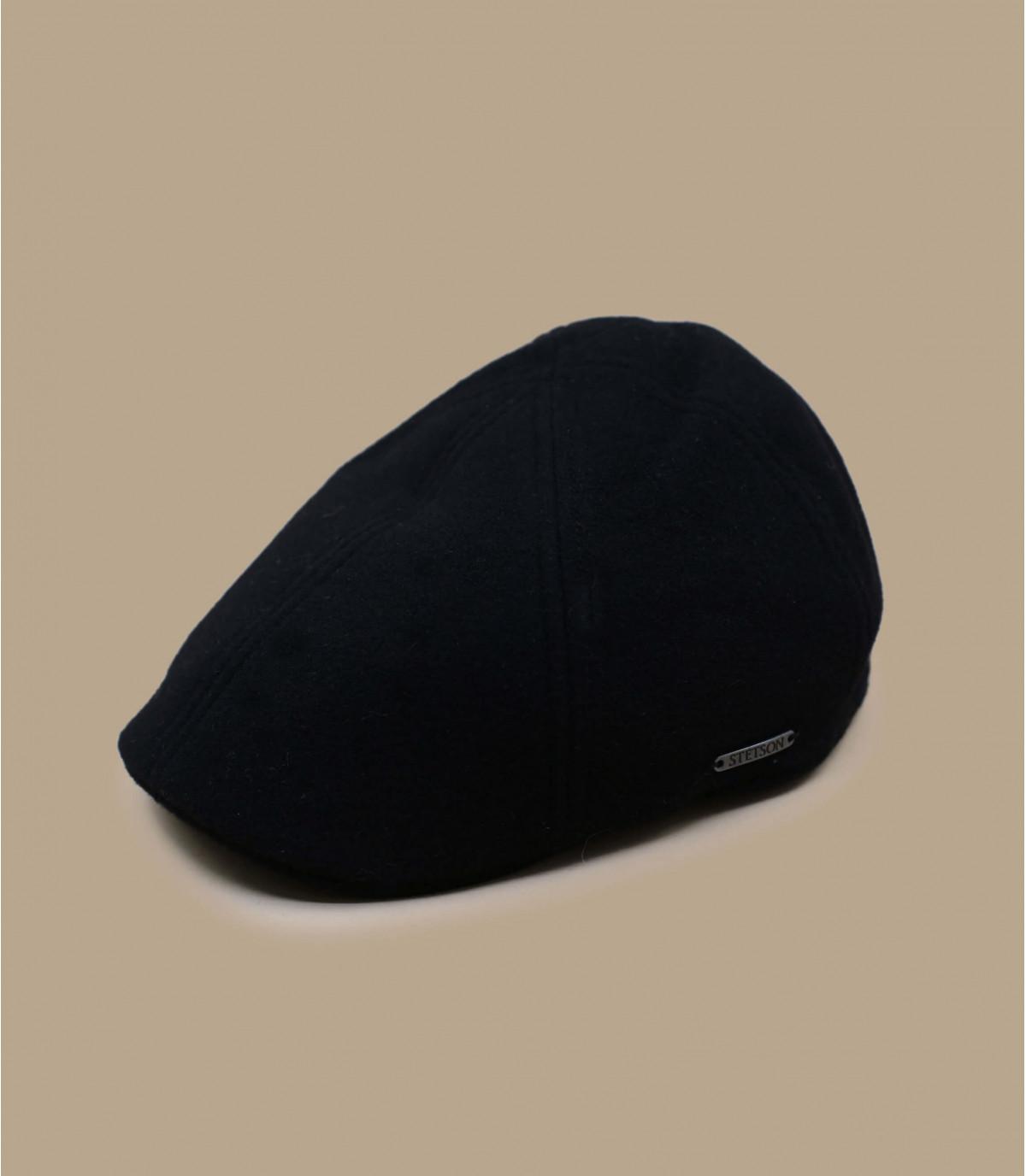 casquillo negro de cachemira