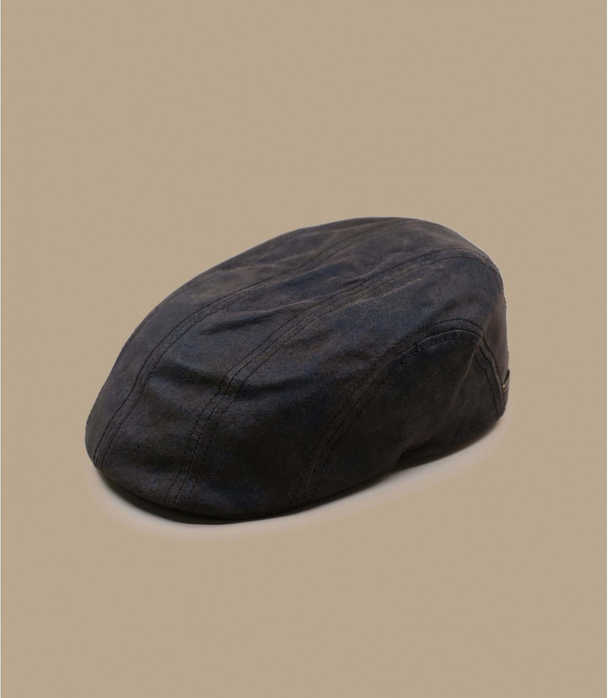 Gorra plate Stetson cuir