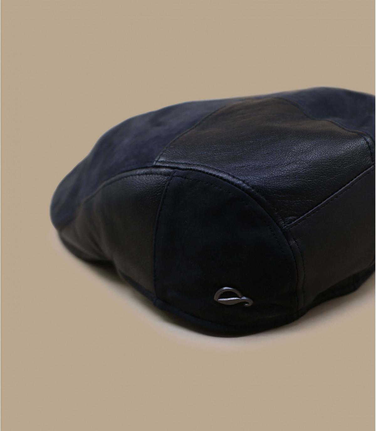 gorra cuero negro