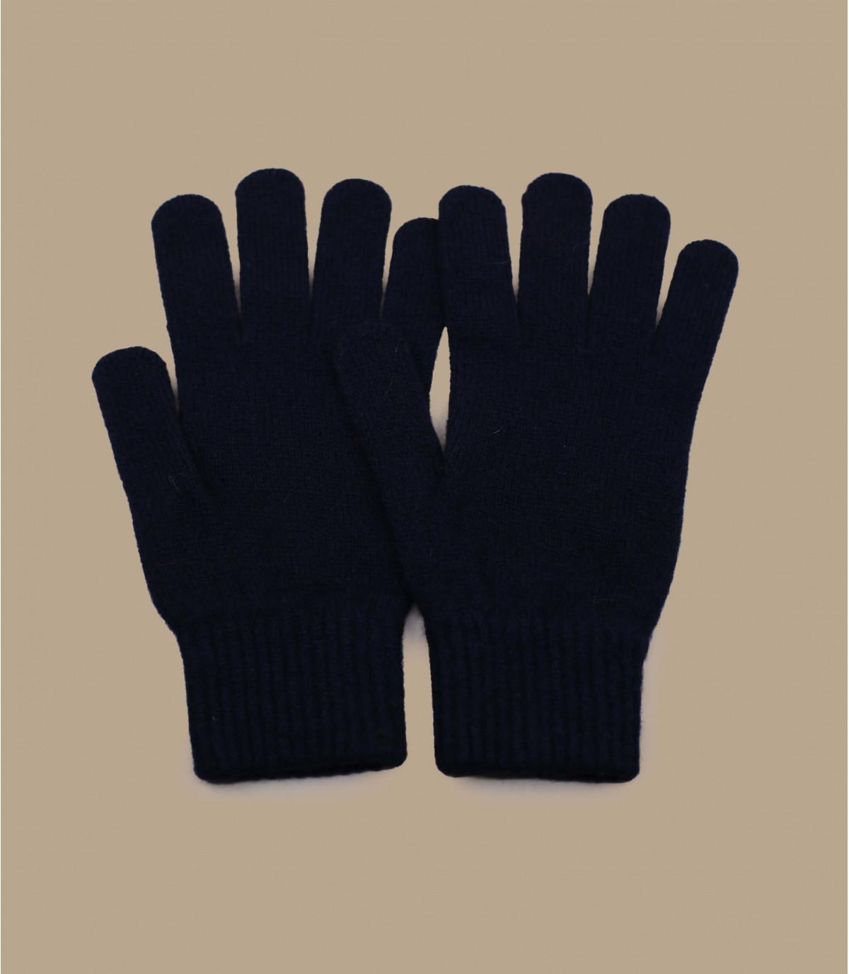 guantes azul lana