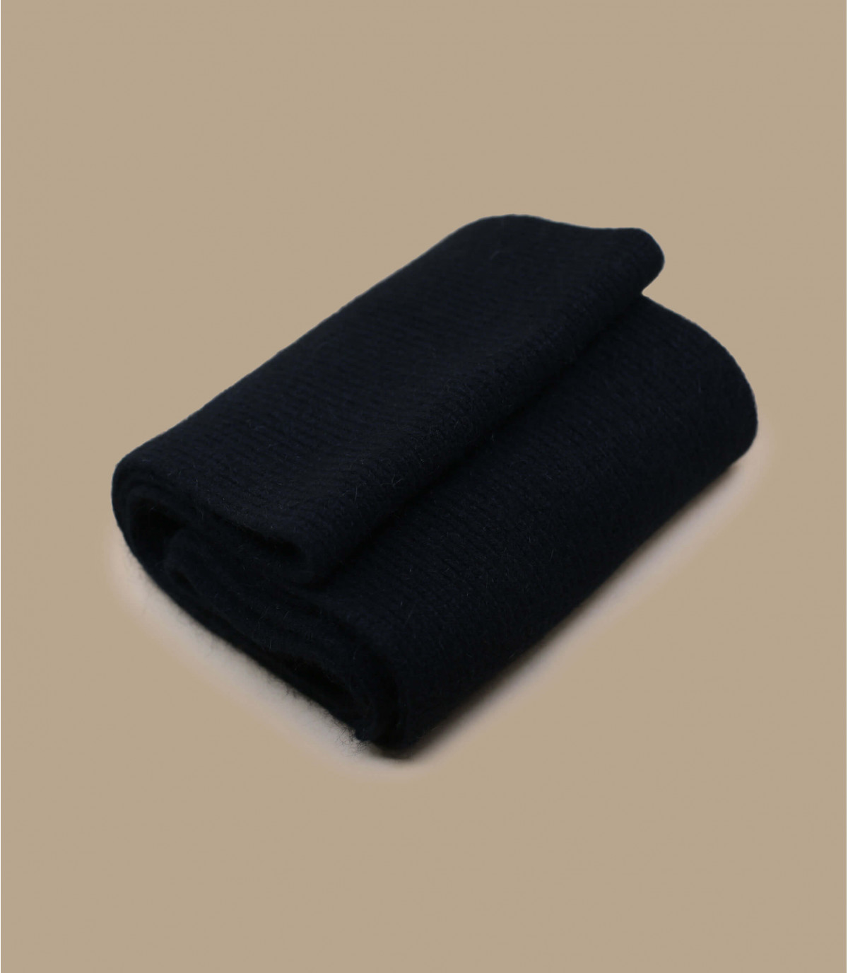 bufanda negro lana angora
