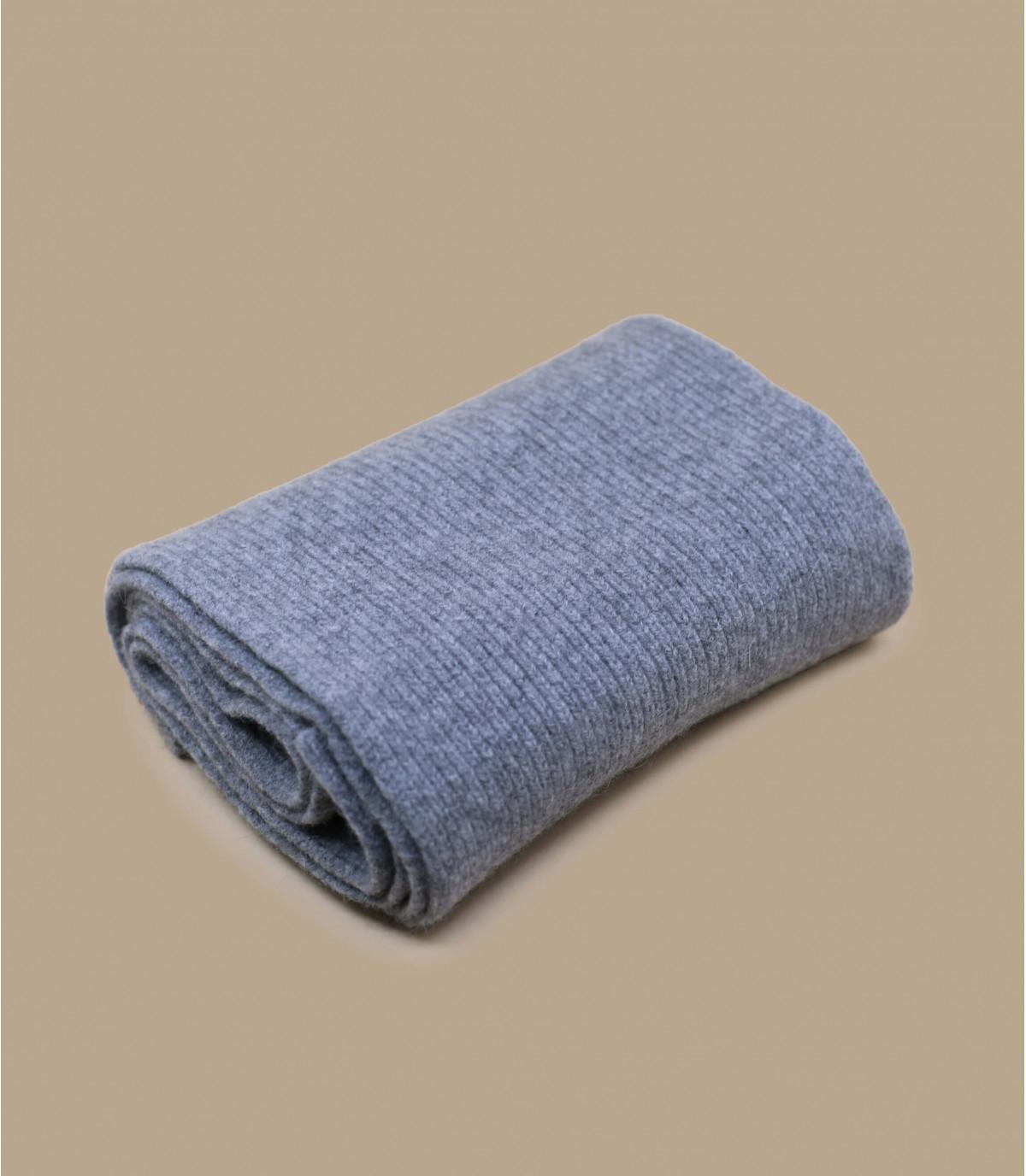 bufanda gris lana angora