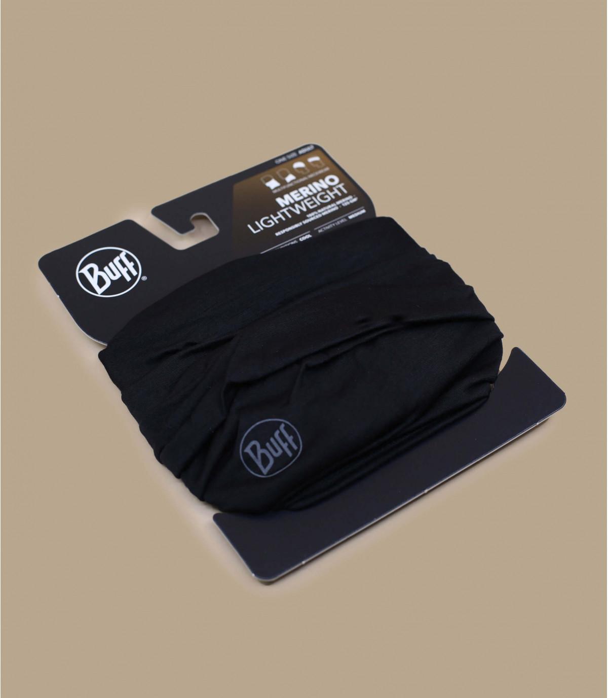 Detalles Lightweight Merino Wool solid black imagen 2