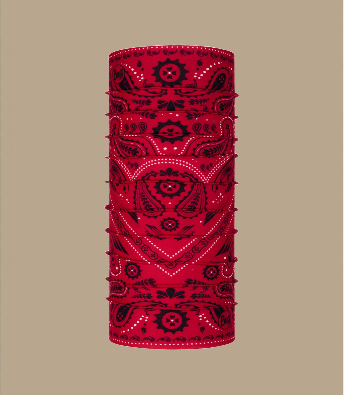 Buff rojo estampado bandana