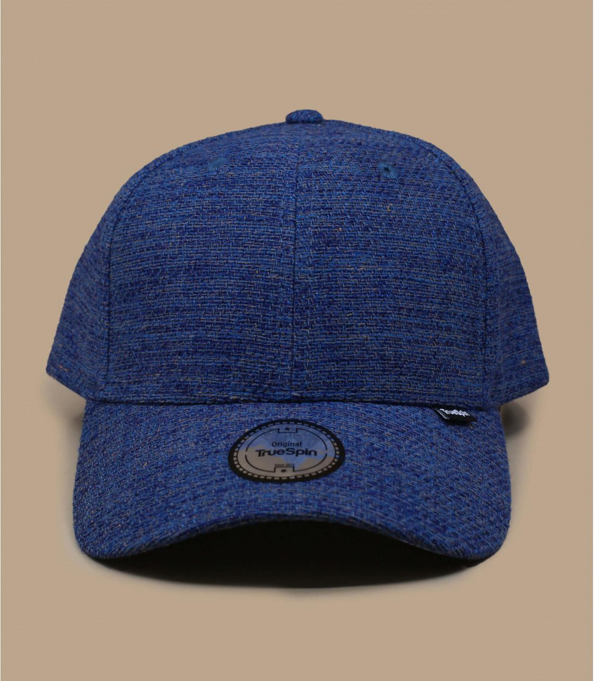 gorra azul tela algodón