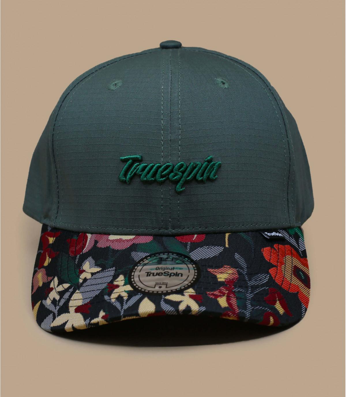 gorra verde estampado flores