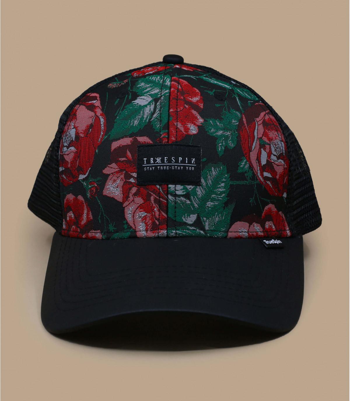 trucker negro estampado rosas
