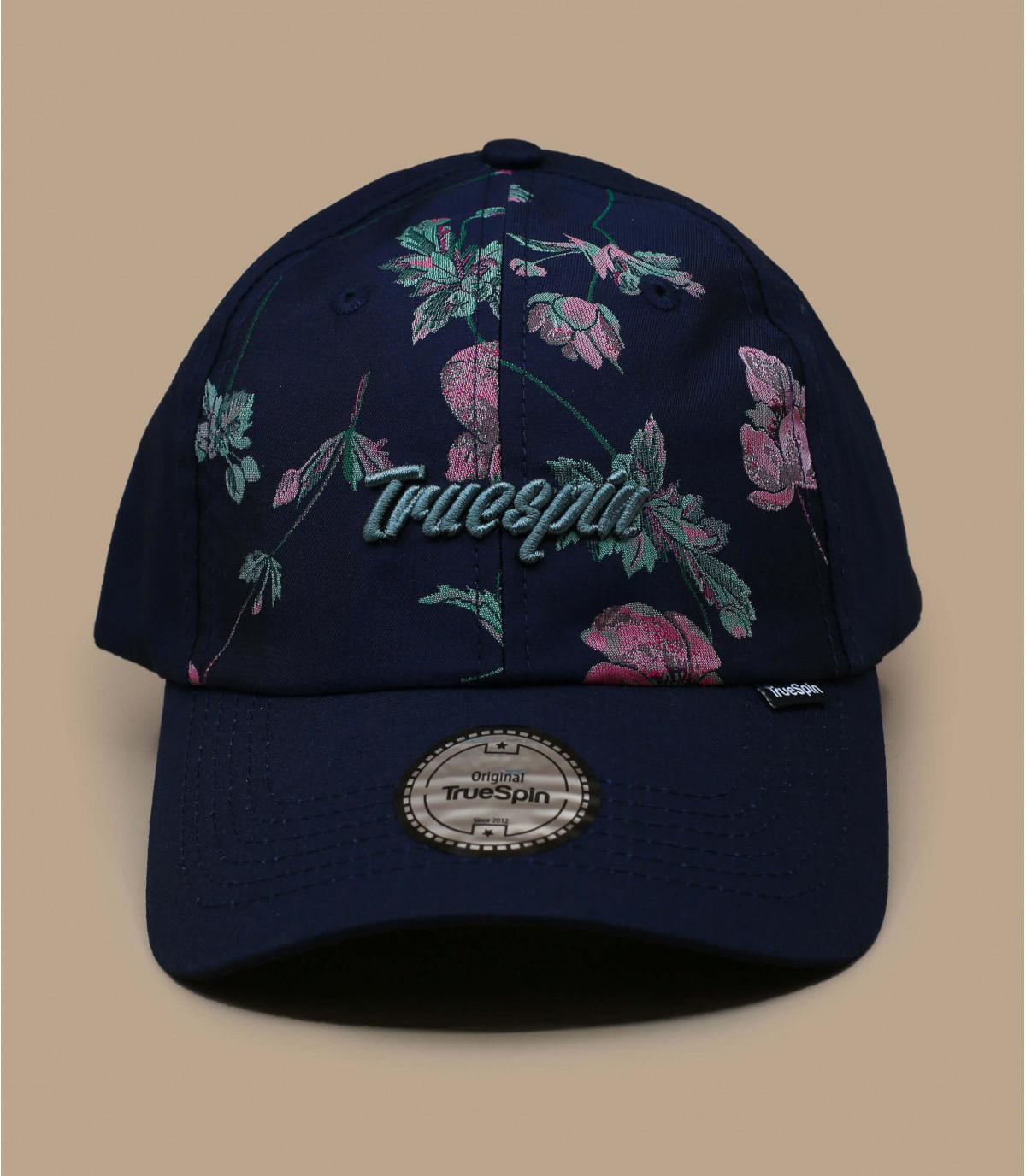 gorra azul estampado flores