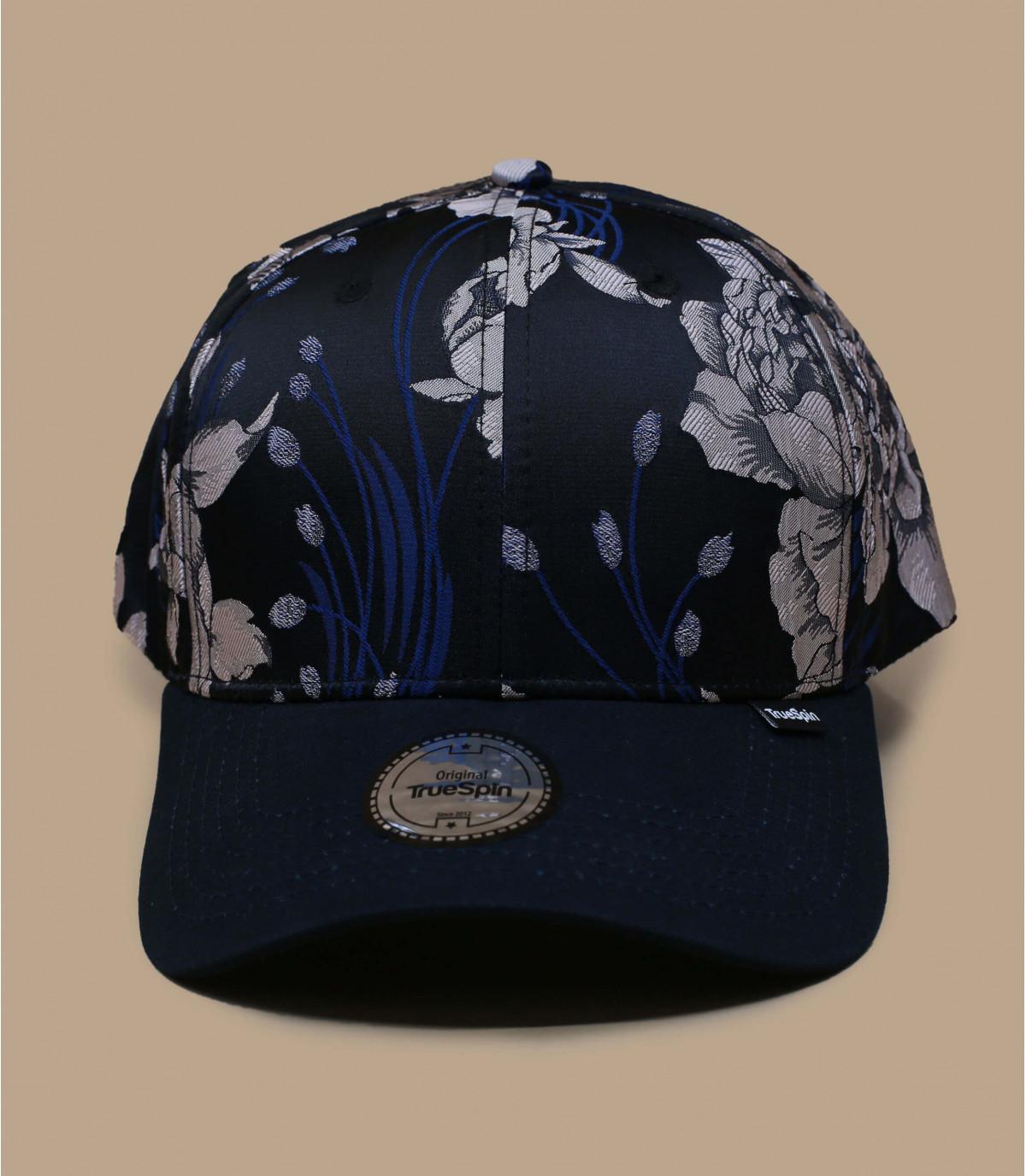 gorra azul flores