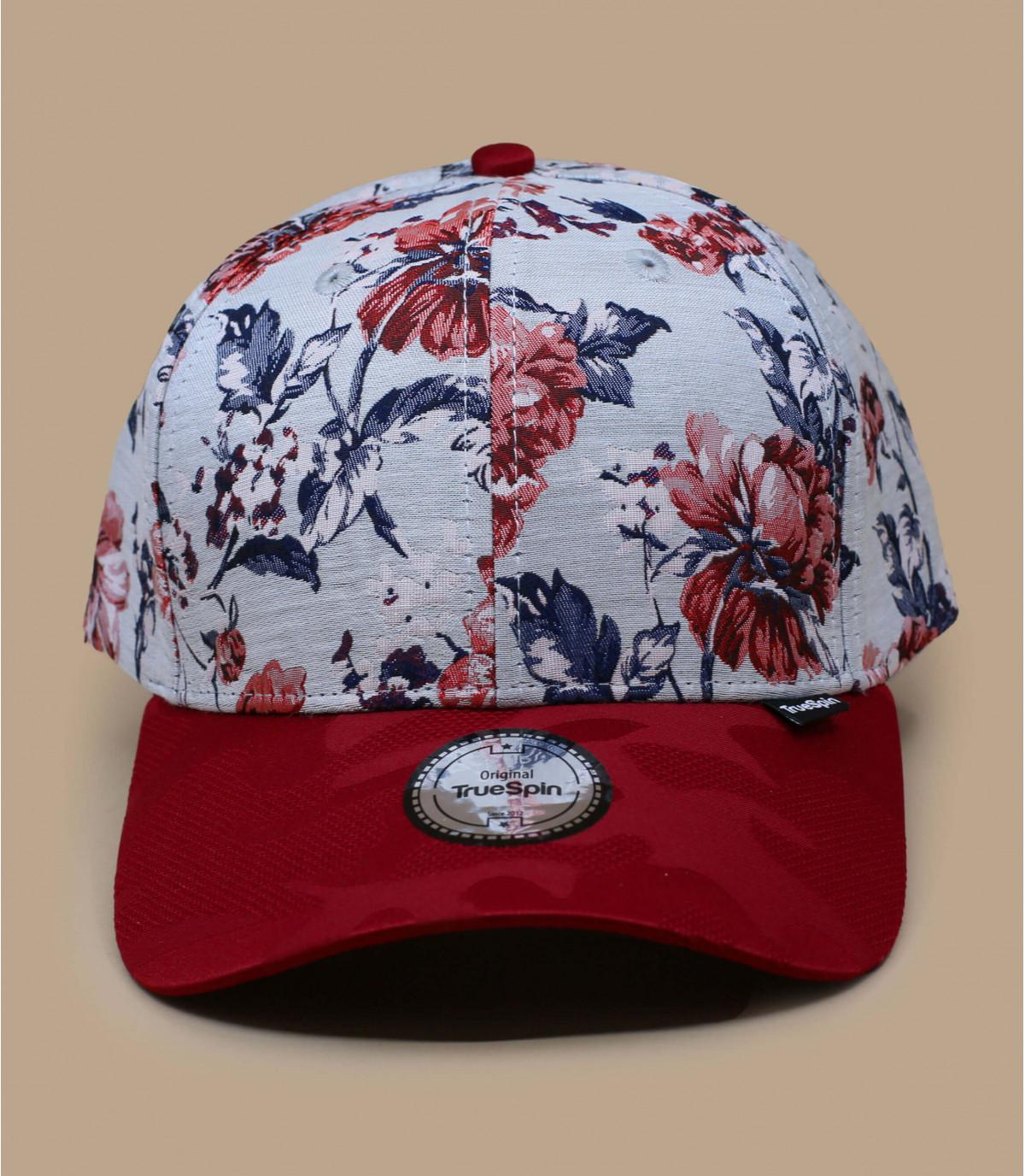 gorra flores rojo
