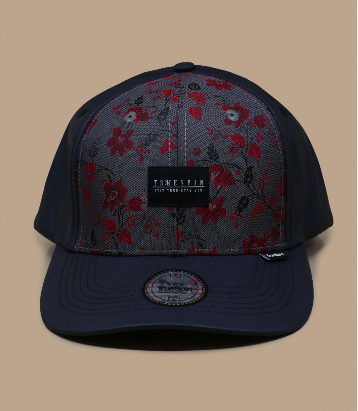 gorra cuero flores
