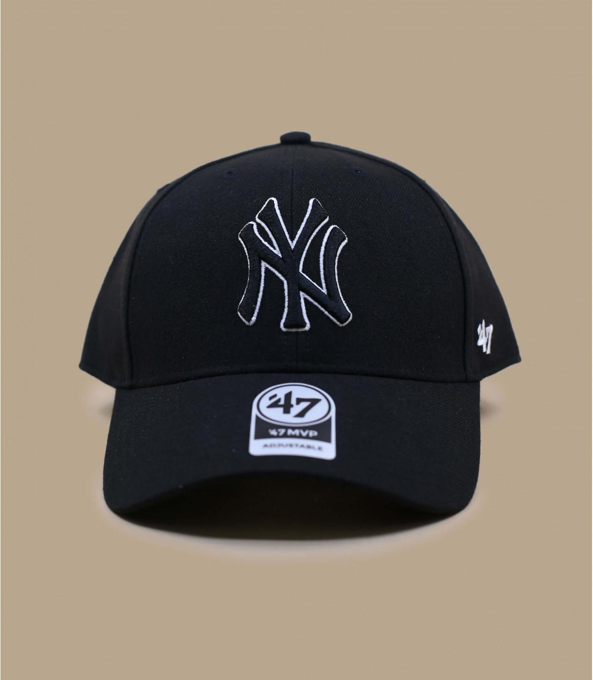 gorra NY negro lana