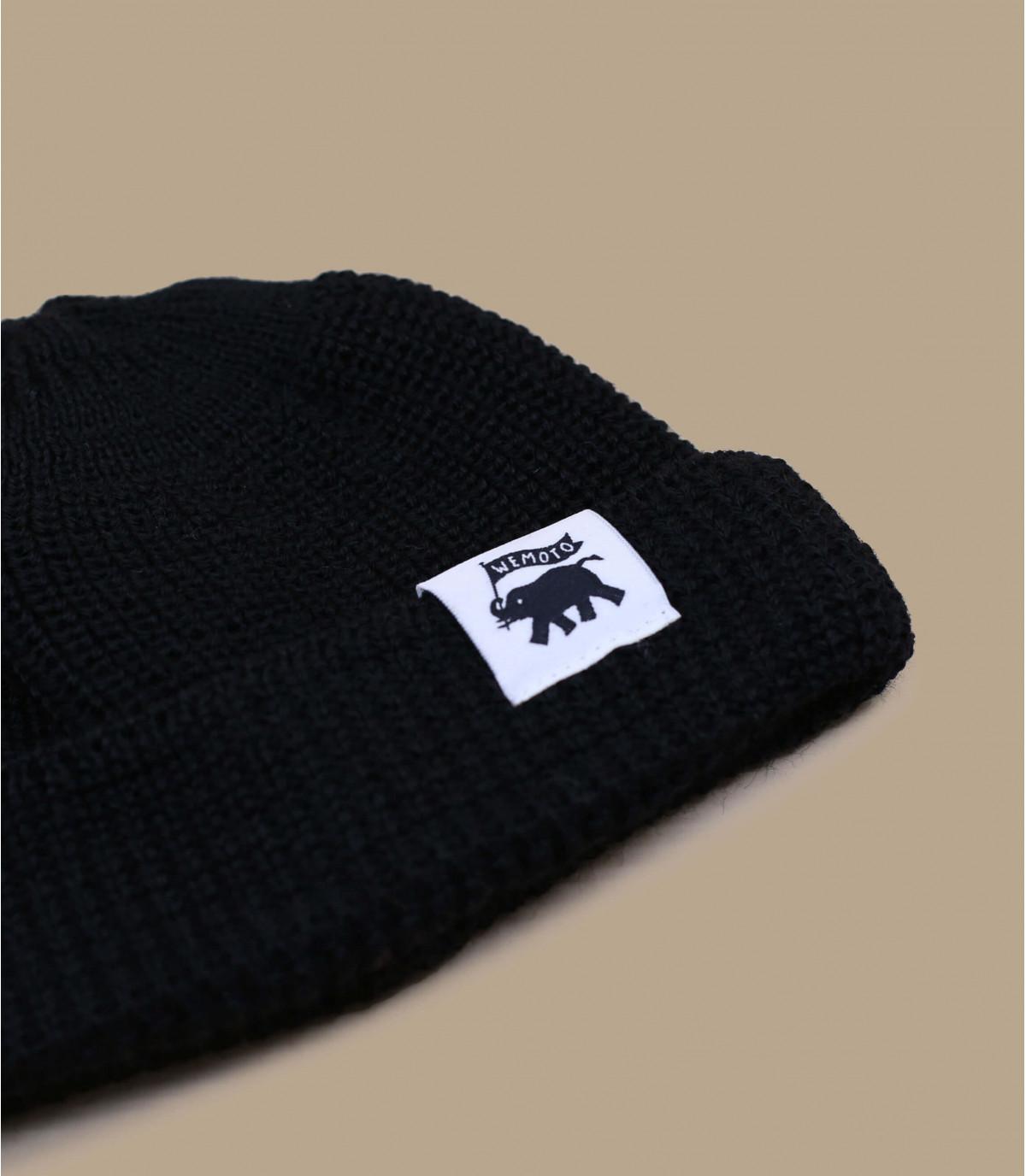 lana negro ventana acoplable gorro