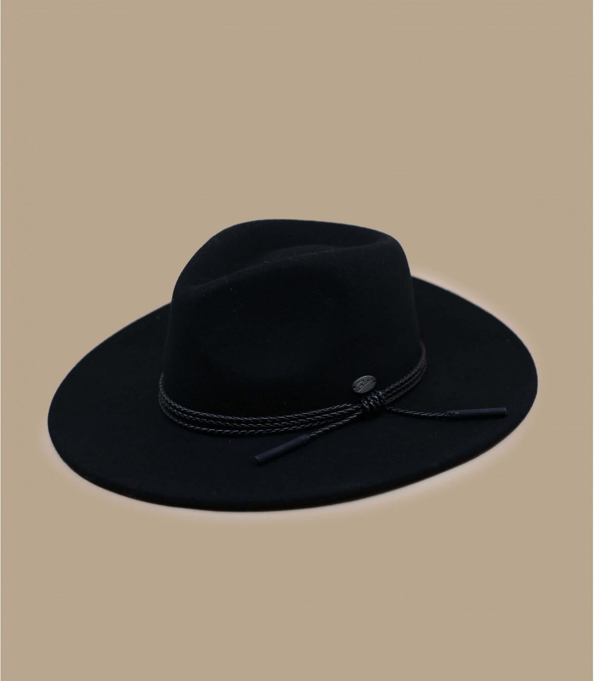 sombrero fieltro negro ala ancha