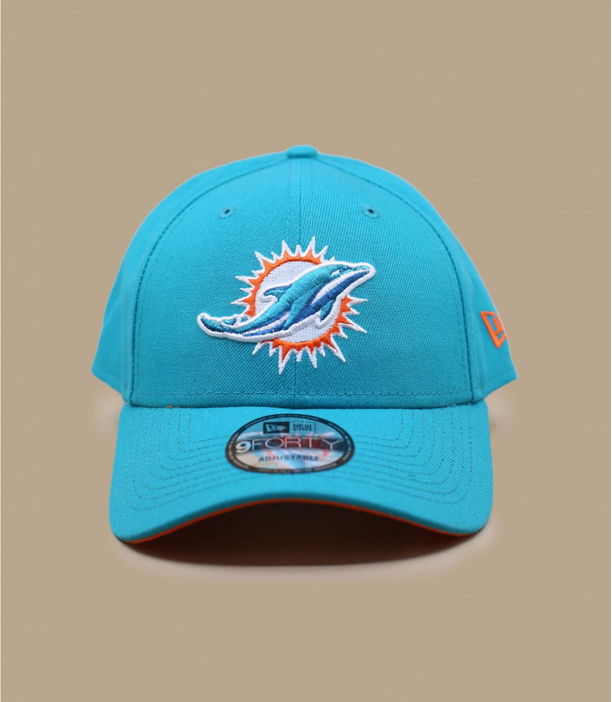 Los delfines casquillo curva azul
