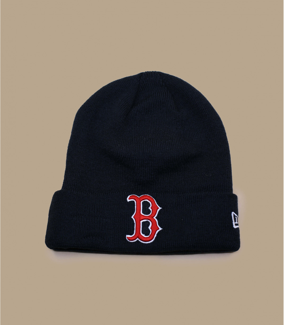 gorro puño Boston azul