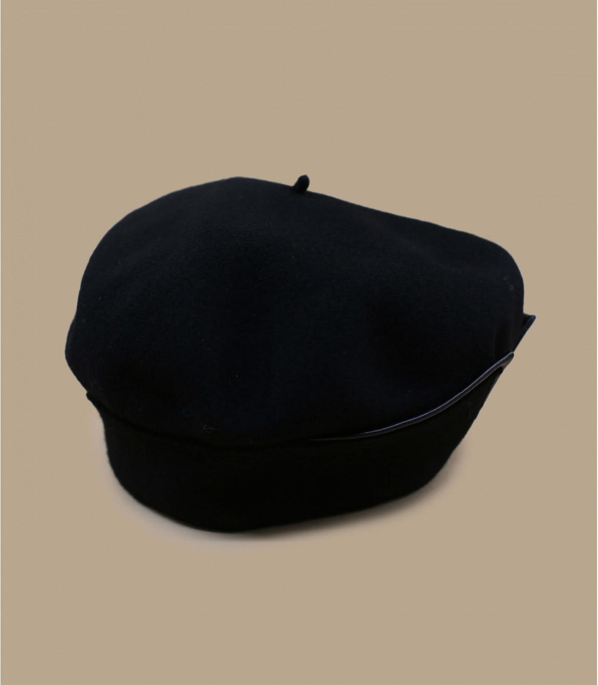 boina brazalete de cuero negro