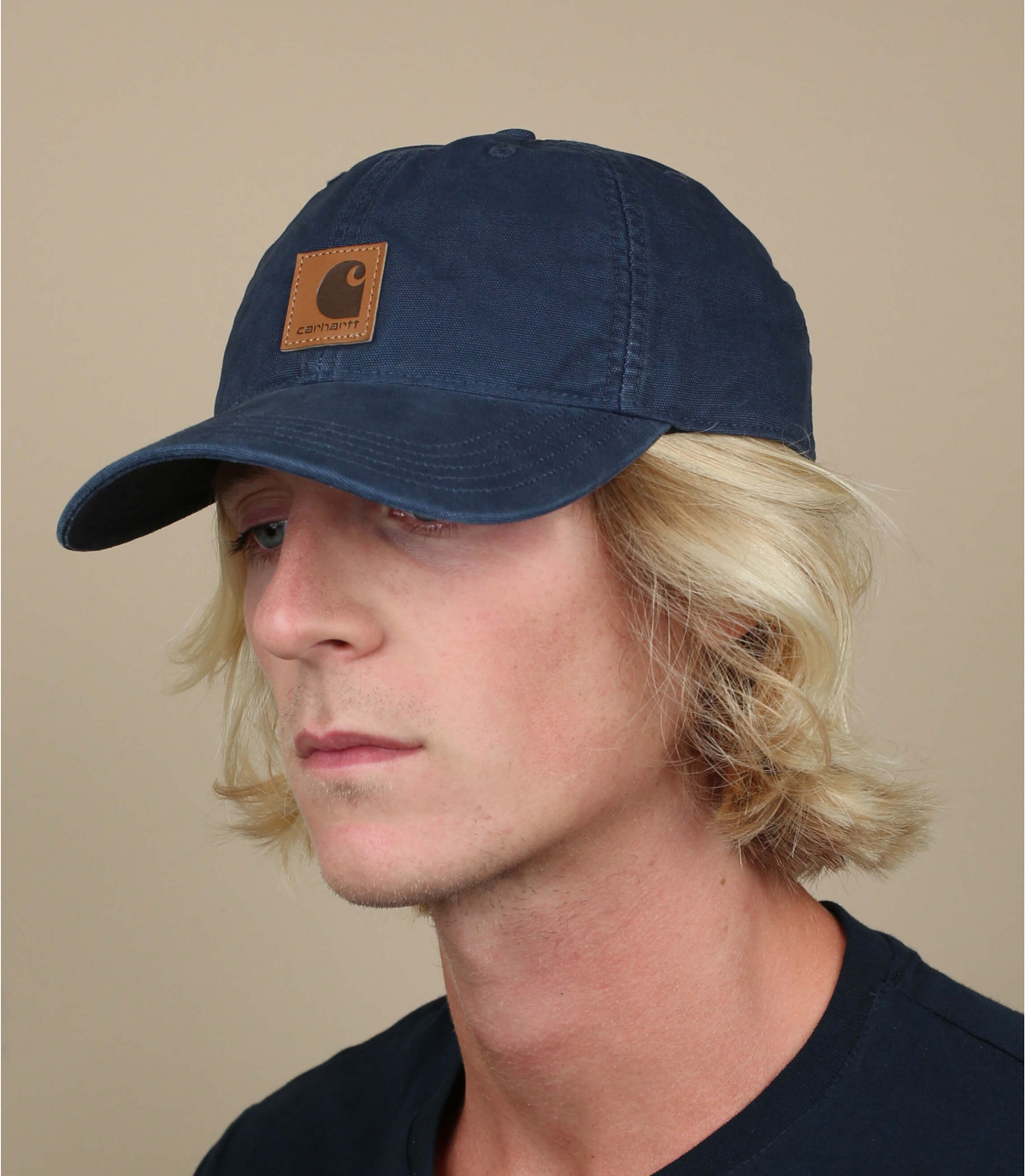 gorra curva parche azul Carhartt