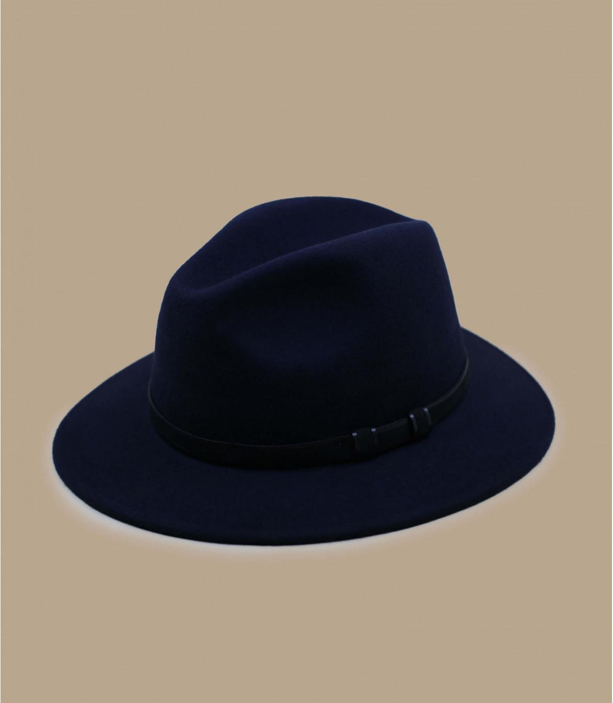 fedora azul lana