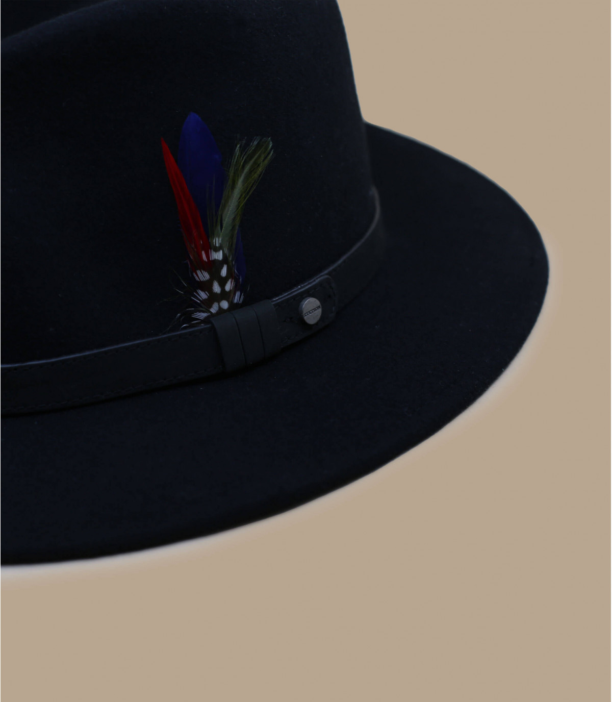 Stetson Fedora lápiz negro