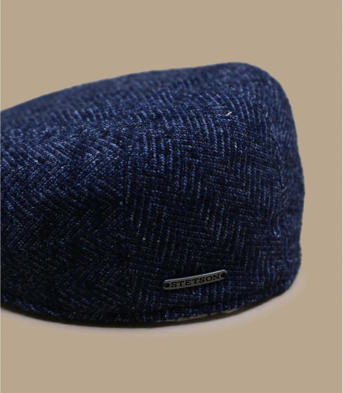 Detalles Ivy Cap Virgin Wool blue herringbone imagen 2
