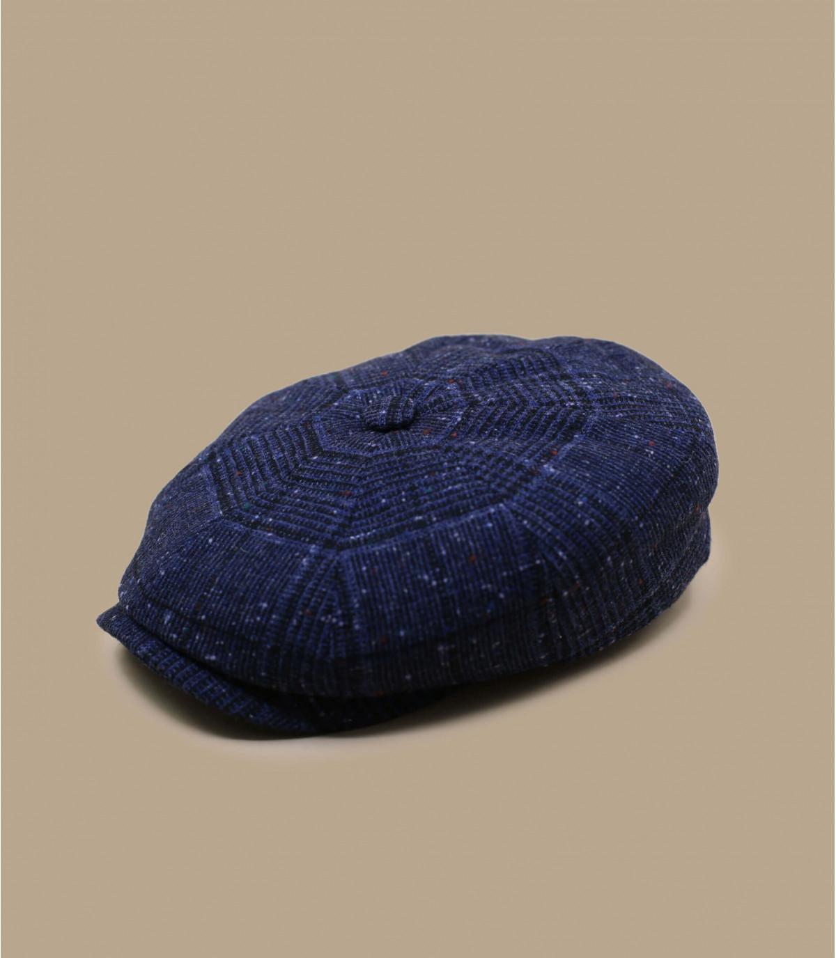 gorra repartidor azul cuadros