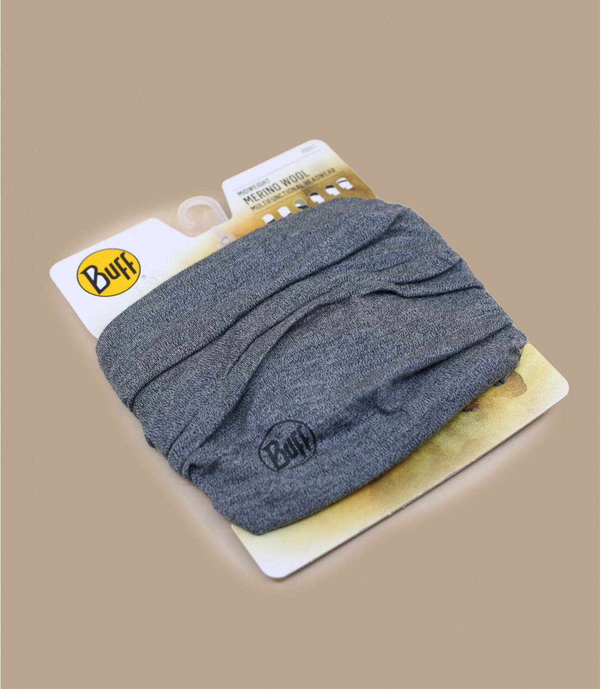 Buff lana merino gris jaspeado
