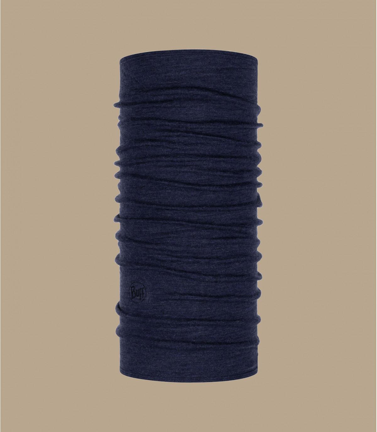 Buff lana mérino azul jaspeado