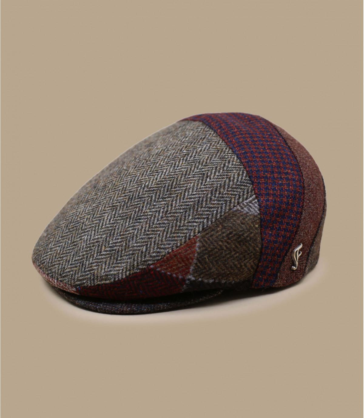 gorra beis granate lana