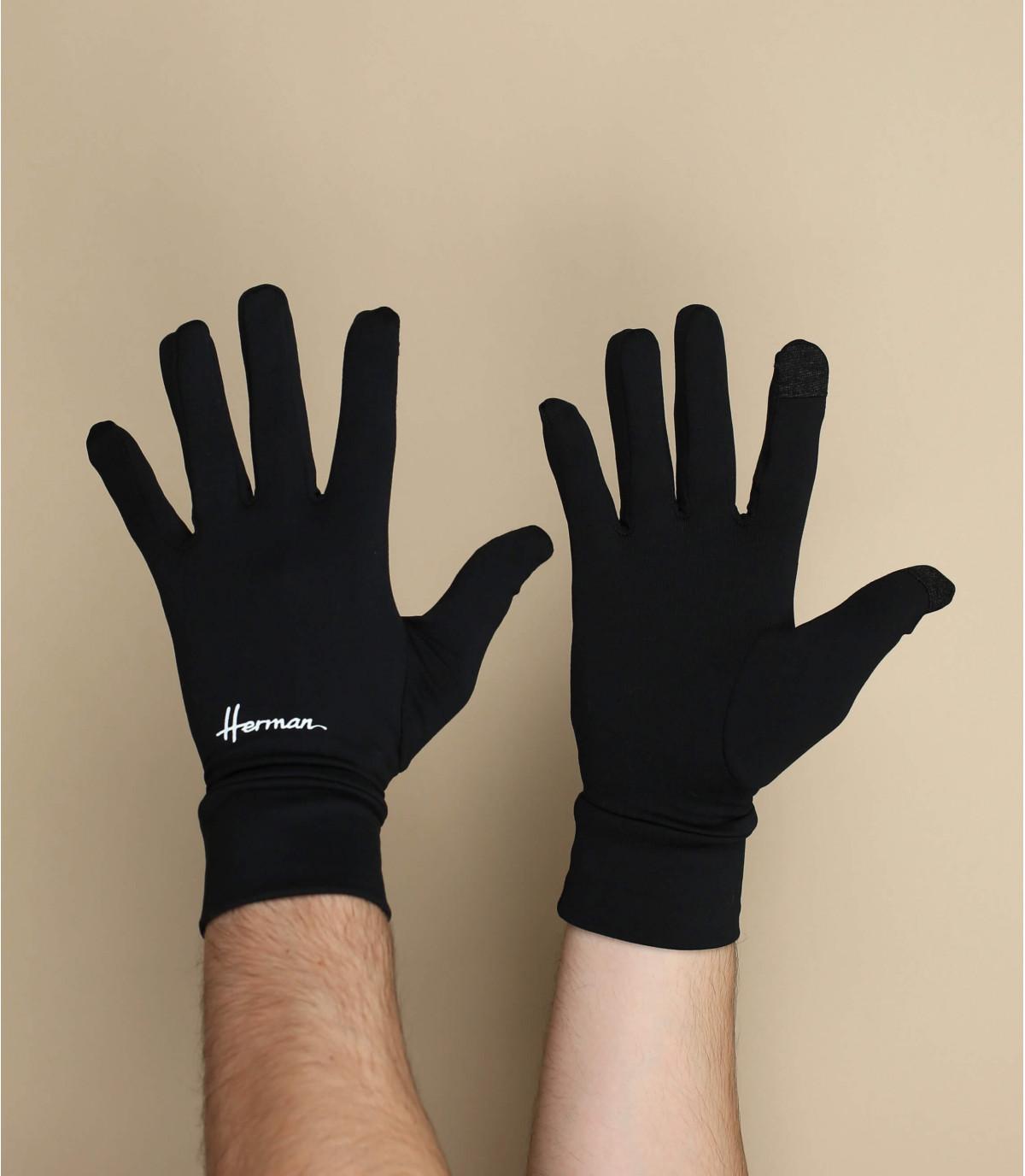 guantes negros compatible pantalla