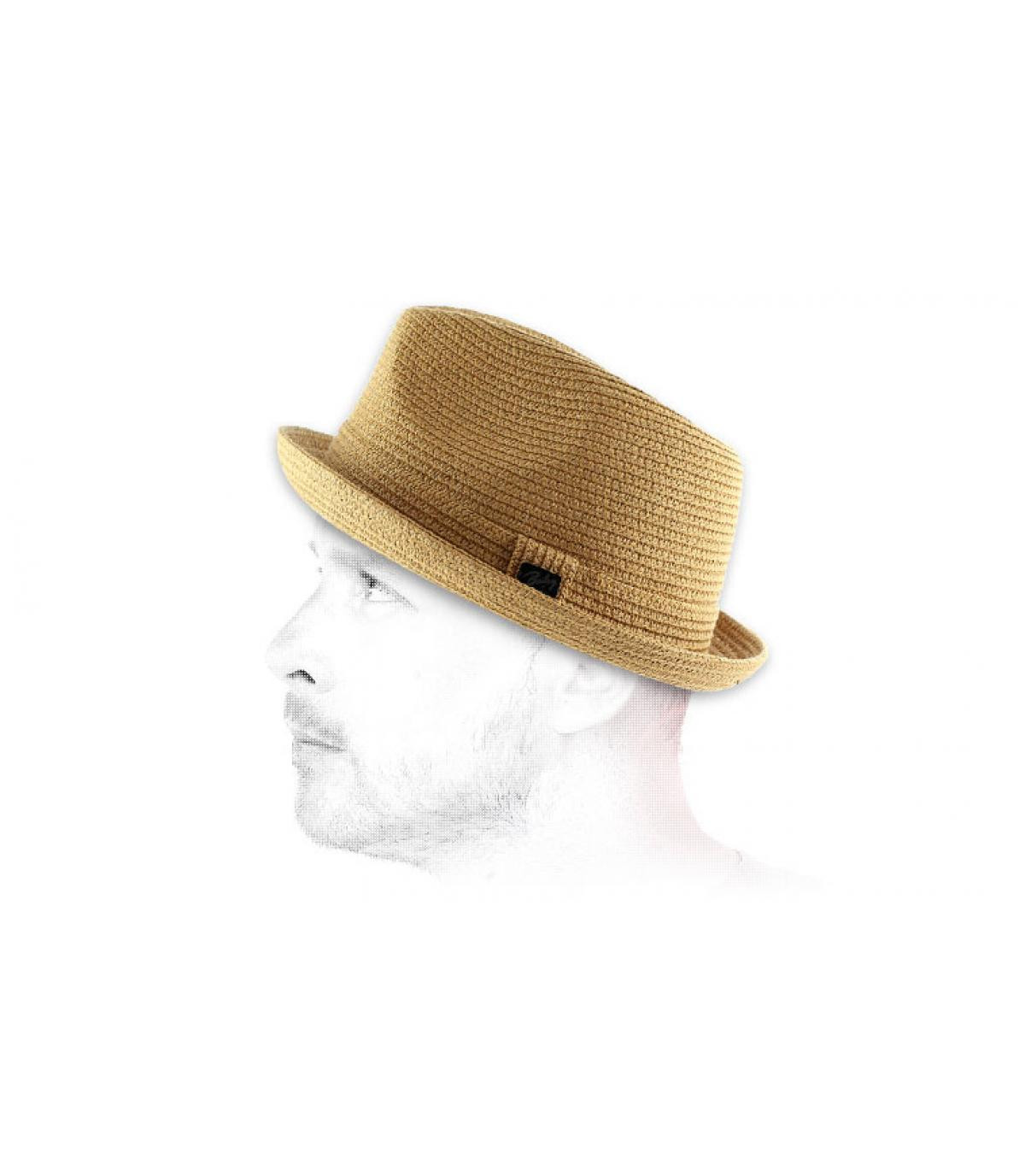 Sombrero paja trilby hombre