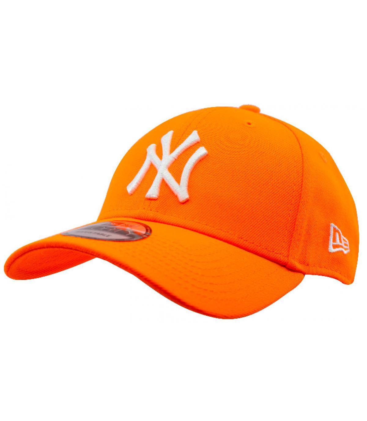 Gorra NY naranja fluo