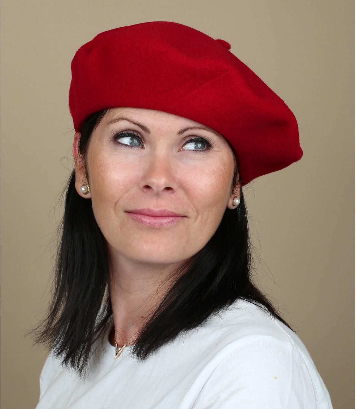 Boina rouge mujer