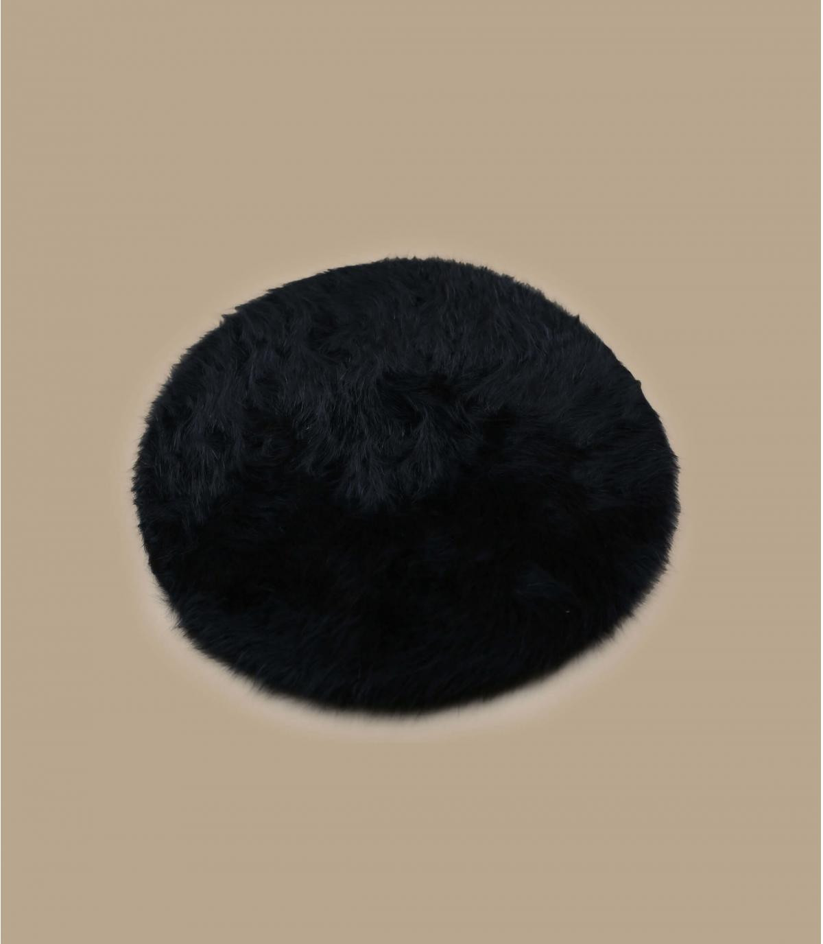 Detalles Boina angora negra imagen 2