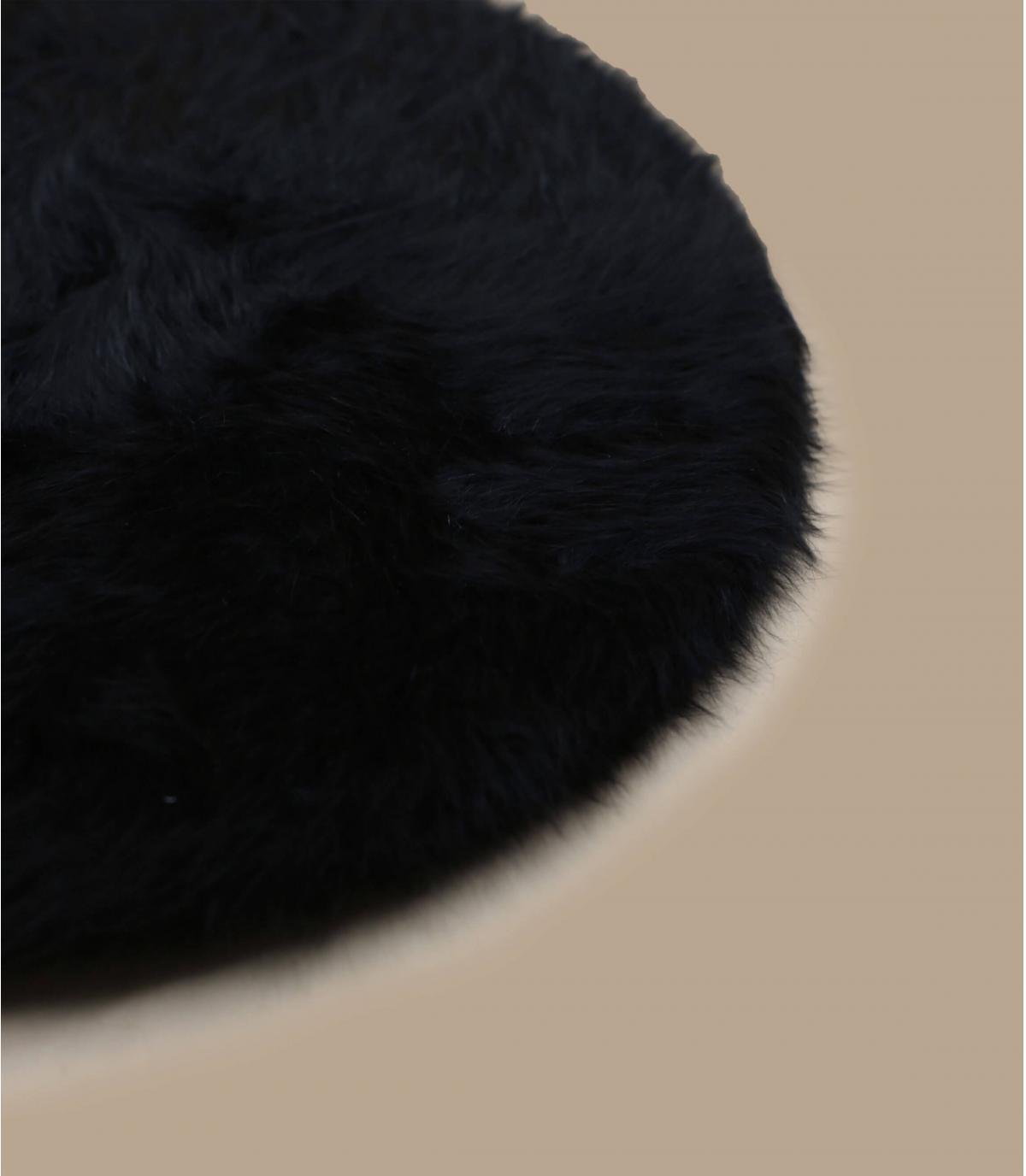 Detalles Boina angora negra imagen 3