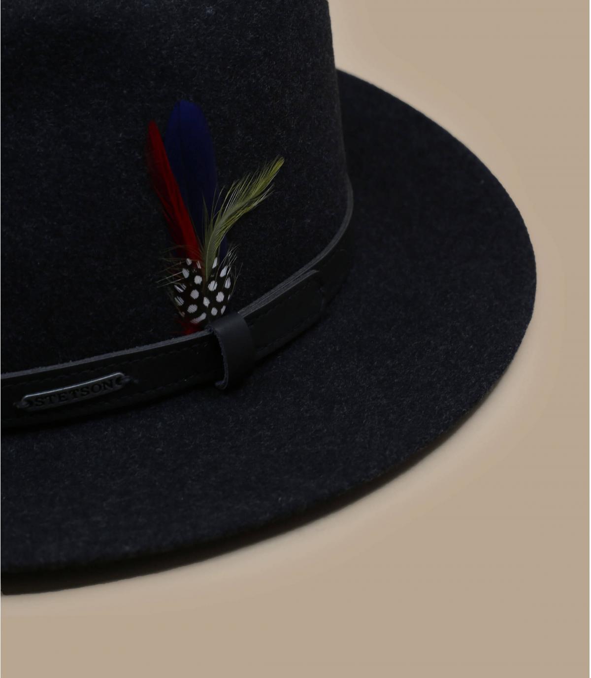 lana sombrero de fieltro negro