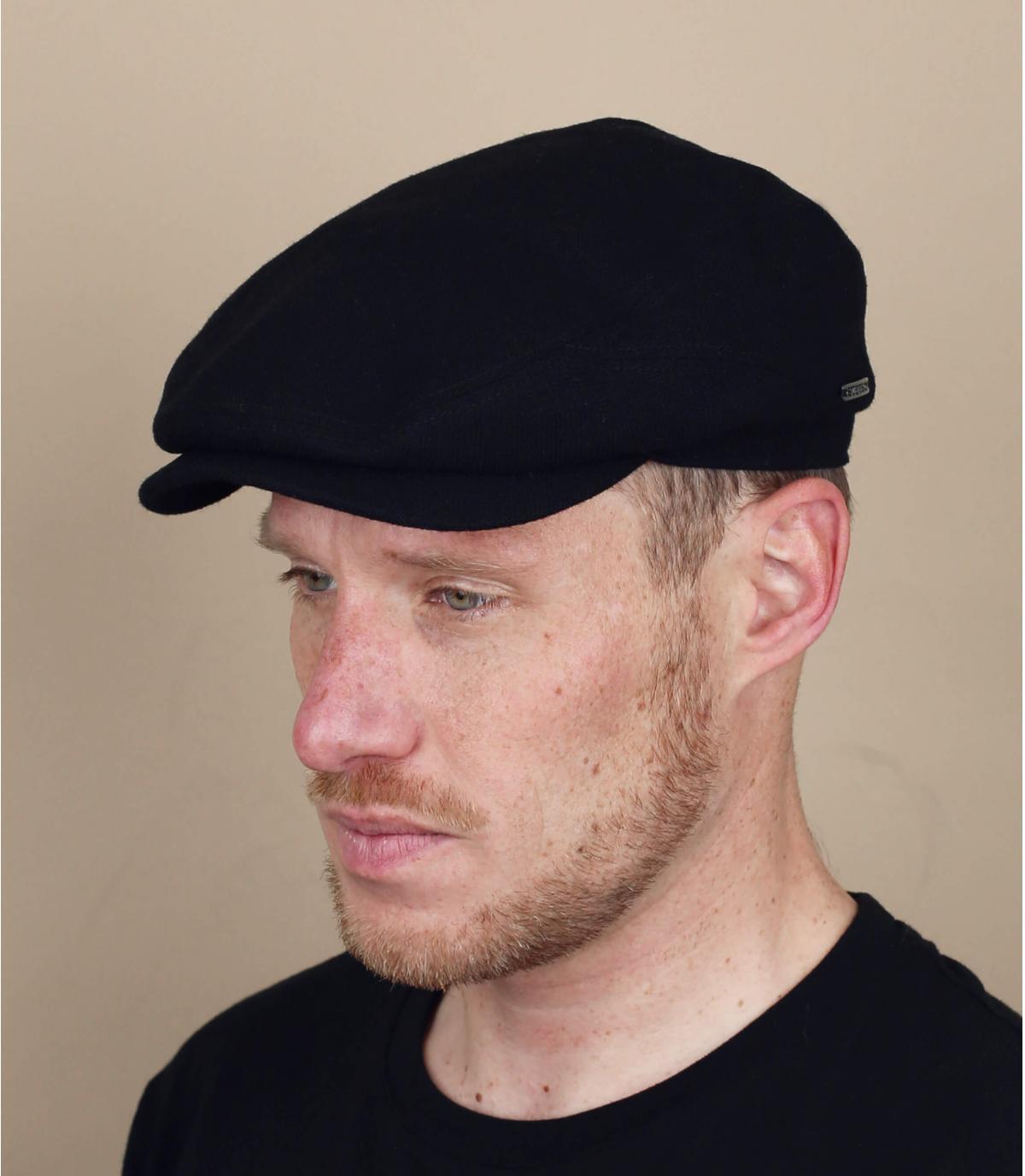 lana de cachemira negro nuevos muchachos casquillo