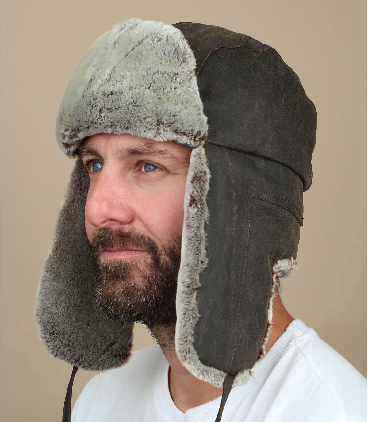 sombrero de cazador de algodón lavado