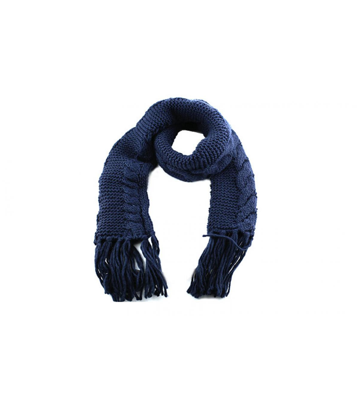 bufanda con flecos de la marina de guerra